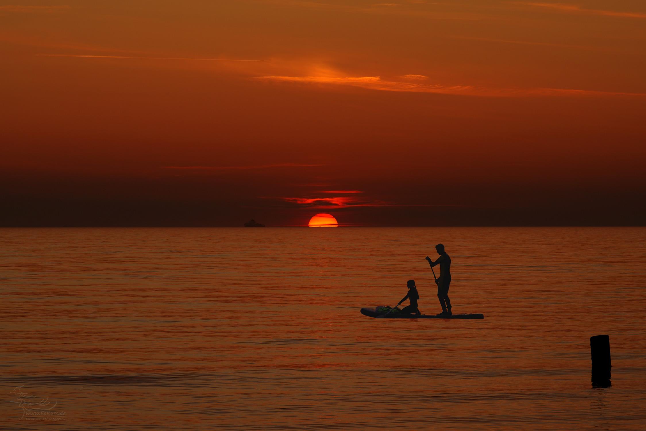 Sonnenuntergang Ostsee FoKuss
