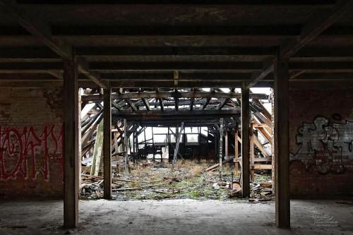 Dachstuhl des Werkstattgebäudes (Feuerteufel Dez. 2013)