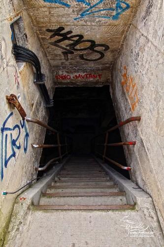 Abstieg in das Kuppeldach des Sudhauses