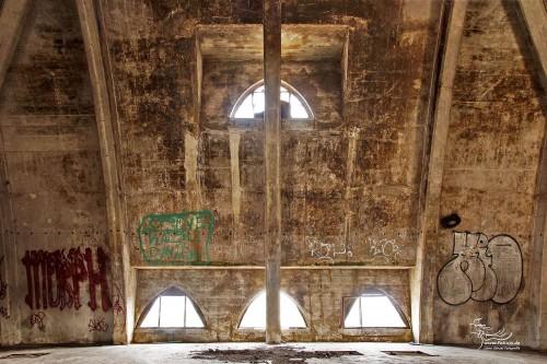 Im Kuppeldach der Sudhauses / Mälzerei