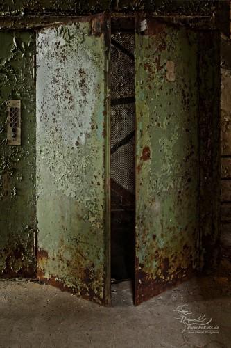 Aufzug im Sudhaus / Mälzerei